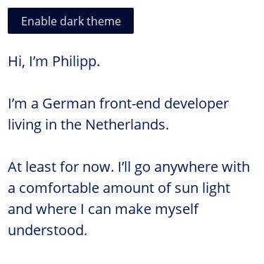 Screenshot of https://kleinfreund.de/