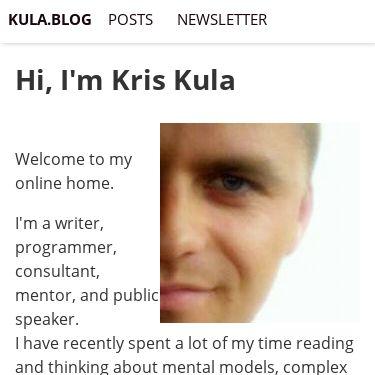 Screenshot of https://kula.blog