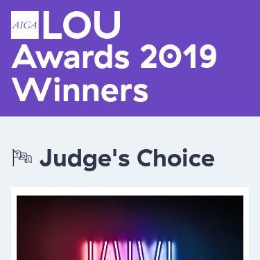 Screenshot of https://louisville.aiga.org/awards-show-2019/