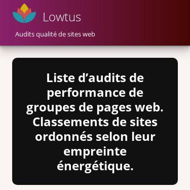 Screenshot of https://lowtus.fr/