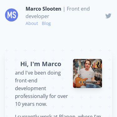Screenshot of https://marcoslooten.com/