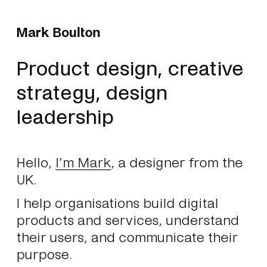 Screenshot of https://markboulton.co.uk/