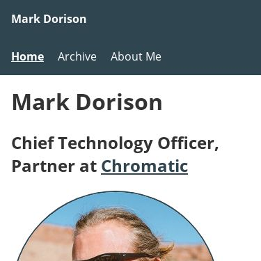 Screenshot of https://markdorison.com/