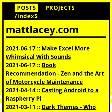 Screenshot of https://mattlacey.com
