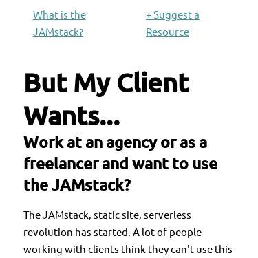 Screenshot of https://myclientwants.com/