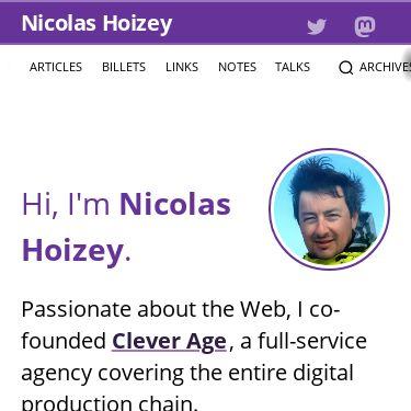 Screenshot of https://nicolas-hoizey.com