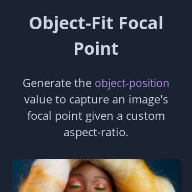 Screenshot of https://objectfit-focalpoint.netlify.app/