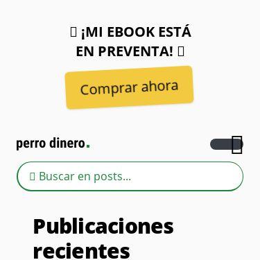 Screenshot of https://perrodinero.blog/