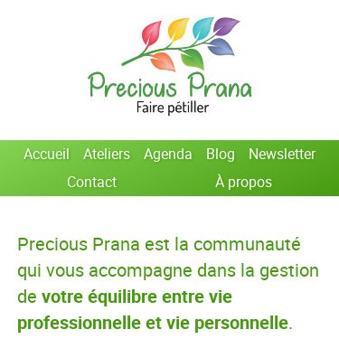 Screenshot of https://precious-prana.com