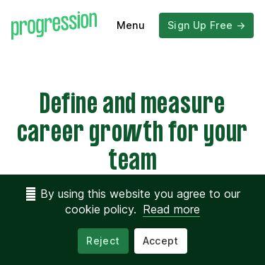 Screenshot of https://progressionapp.com/
