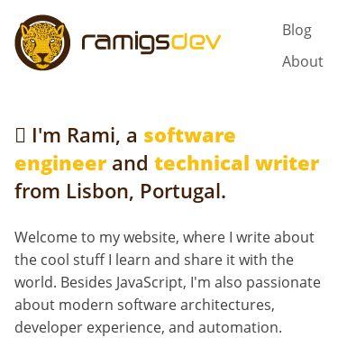 Screenshot of https://ramigs.dev/