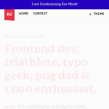 Screenshot of https://robsterlini.co.uk