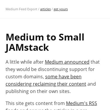 Screenshot of https://rss-jamstack.netlify.app/