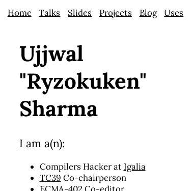 Screenshot of https://ryzokuken.dev/
