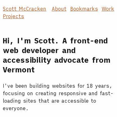 Screenshot of https://scottmccracken.net/