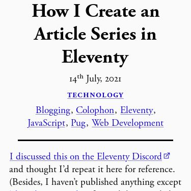 Screenshot of https://shivjm.blog/colophon/how-i-create-an-article-series-in-eleventy/