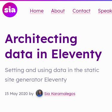 Screenshot of https://sia.codes/posts/architecting-data-in-eleventy/