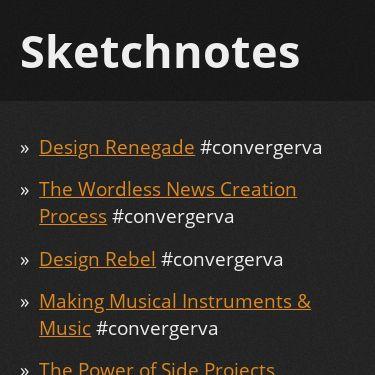 Screenshot of https://sketchnotes.sixtwothree.org/