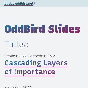 Screenshot of https://slides.oddbird.net/