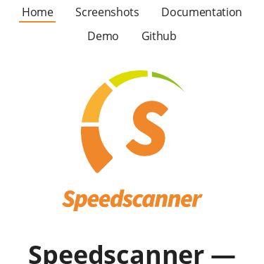 Screenshot of https://speedscanner.org/