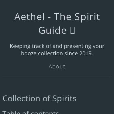 Screenshot of https://spirits.bischoff.wtf