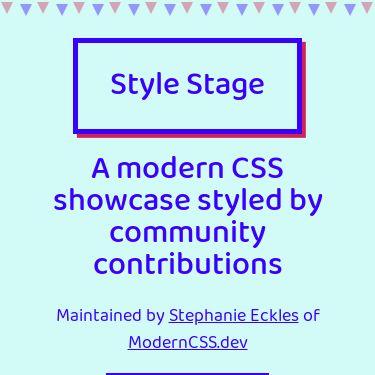Screenshot of https://stylestage.dev/