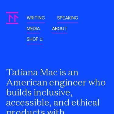 Screenshot of https://tatianamac.com/