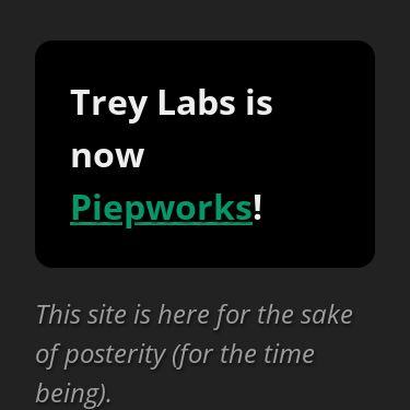 Screenshot of https://treylabs.com/