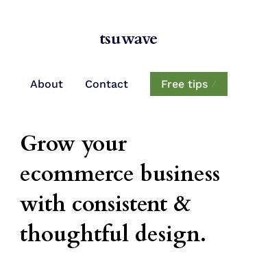 Screenshot of https://tsuwave.studio/