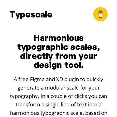 Screenshot of https://typescale.io/