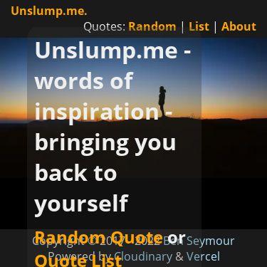 Screenshot of https://unslump.me/