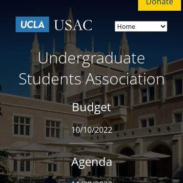 Screenshot of https://usac.ucla.edu/
