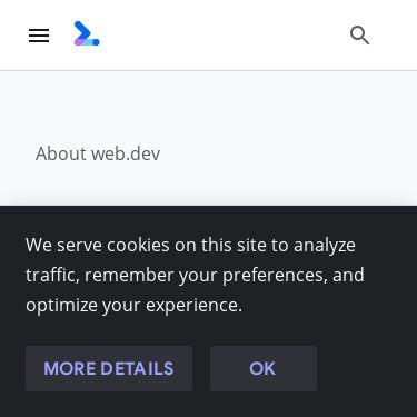 Screenshot of https://web.dev/