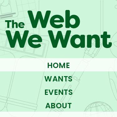 Screenshot of https://webwewant.fyi/