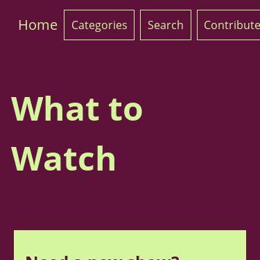 Screenshot of https://whatt2watch.netlify.app/