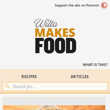 Screenshot of https://wiltomakesfood.com/