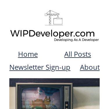 Screenshot of https://wipdeveloper.com/