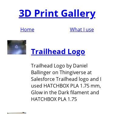 Screenshot of https://www.3dprint.gallery/