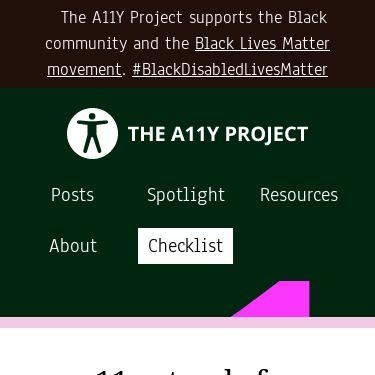 Screenshot of https://www.a11yproject.com/
