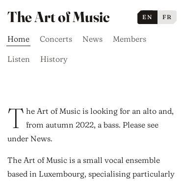 Screenshot of https://www.artofmusic.lu/