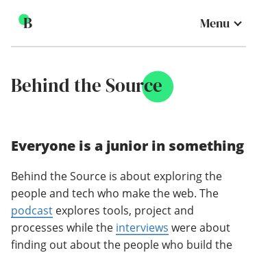 Screenshot of https://www.behindthesource.co.uk/