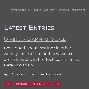 Screenshot of https://www.bridgestew.com