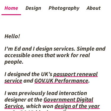 Screenshot of https://www.edwardhorsford.com/