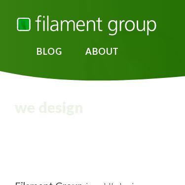 Screenshot of https://www.filamentgroup.com/