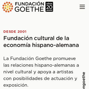 Screenshot of https://www.fundaciongoethe.org/es/