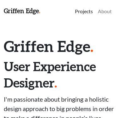Screenshot of https://www.griffenedge.com/