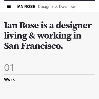 Screenshot of https://www.ianrose.me/