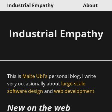 Screenshot of industrialempathy.com/