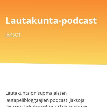 Screenshot of https://www.lautakuntapodcast.fi/