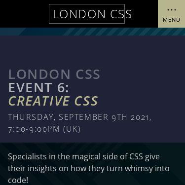 Screenshot of https://www.londoncss.dev/